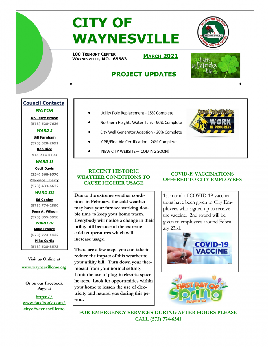 March Newsletter - 2021 - 1