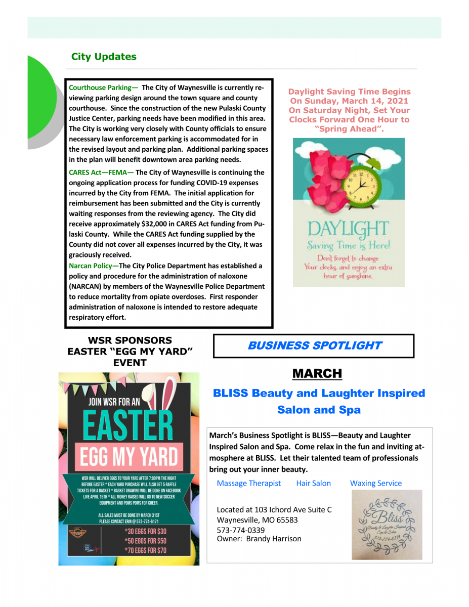 March Newsletter - 2021 - 2